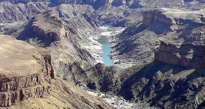 Fish River Canyon, Namibia. Author and Copyright Marco Ramerini.