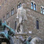 Biancone, Piazza della Signoria, Florence, Italy. Author and Copyright Marco Ramerini