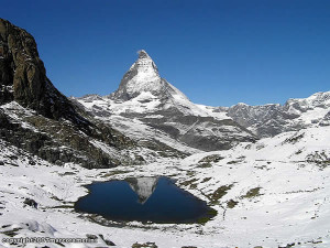 Riffelsee and the Matterhorn (Cervino), Switzerland-Italy. Author Marco Ramerini