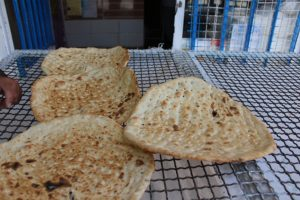 Iranian bread. Author and Copyright Marco Ramerini