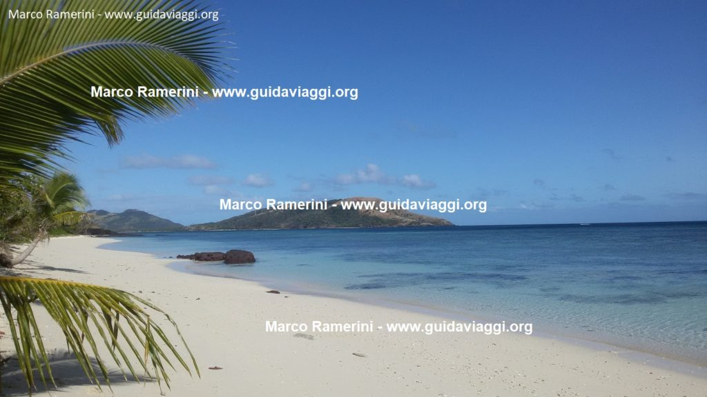 Blue Lagoon Beach, Nacula Island, Yasawa Islands, Fiji. Author and Copyright Marco Ramerini.
