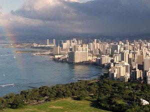 Honolulu, Oahu, Hawaii. Author Cristo Vlahos. Licensed under the Creative Commons Attribution-Share Alike