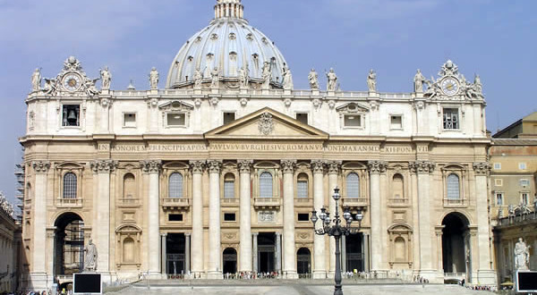 St. Peter's Basilica, Rome, Italy. Author and Copyright Marco Ramerini