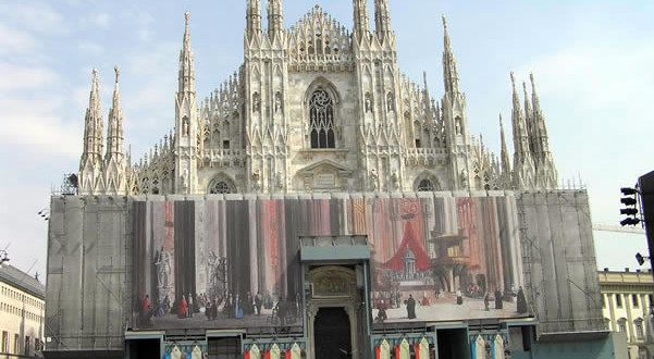 Duomo, Milan, Lombardy, Italy. Author and Copyright Marco Ramerini