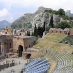 Theatre, Taormina, Sicily, Italy. Author and Copyright Marco Ramerini
