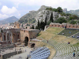 Theatre, Taormina, Sicily, Italy. Author and Copyright Marco Ramerini