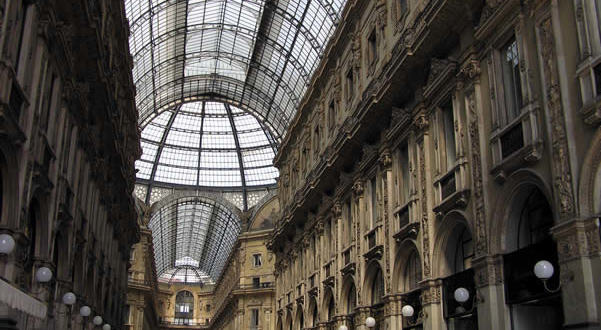 Galleria Vittorio Emanuele II, Milan, Lombardy, Italy. Author and Copyright Marco Ramerini
