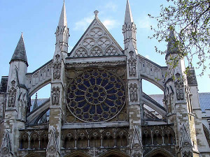 North facade, Westminster Abbey, London, United Kingdom. Author and Copyright Marco Ramerini