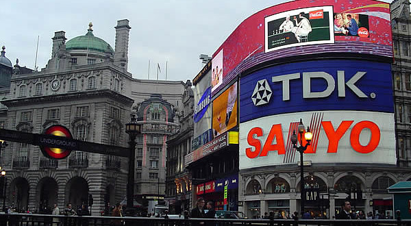 Piccadilly Circus, London, United Kingdom. Author and Copyright Marco Ramerini