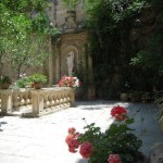 The garden, Casa Rocca Piccola, Valletta, Malta