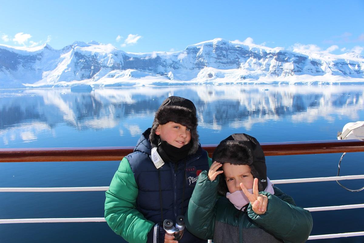 Andrea and Mattia in Antarctica. Author and Copyright Marco Ramerini