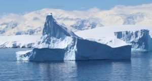 Icebergs, Antarctica. Author and Copyright Marco Ramerini.
