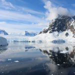 The bay with the glacier, Lemaire Channel, Antarctica. Author and Copyright Marco Ramerini
