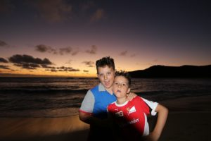 Andrea and Mattia, Waya island, Yasawa, Fiji. Author and Copyright Marco Ramerini