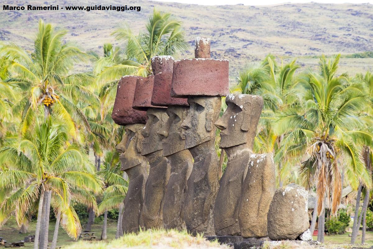 Ahu Nau Nau, Anakena, Easter Island, Chile. Author and Copyright Marco Ramerini