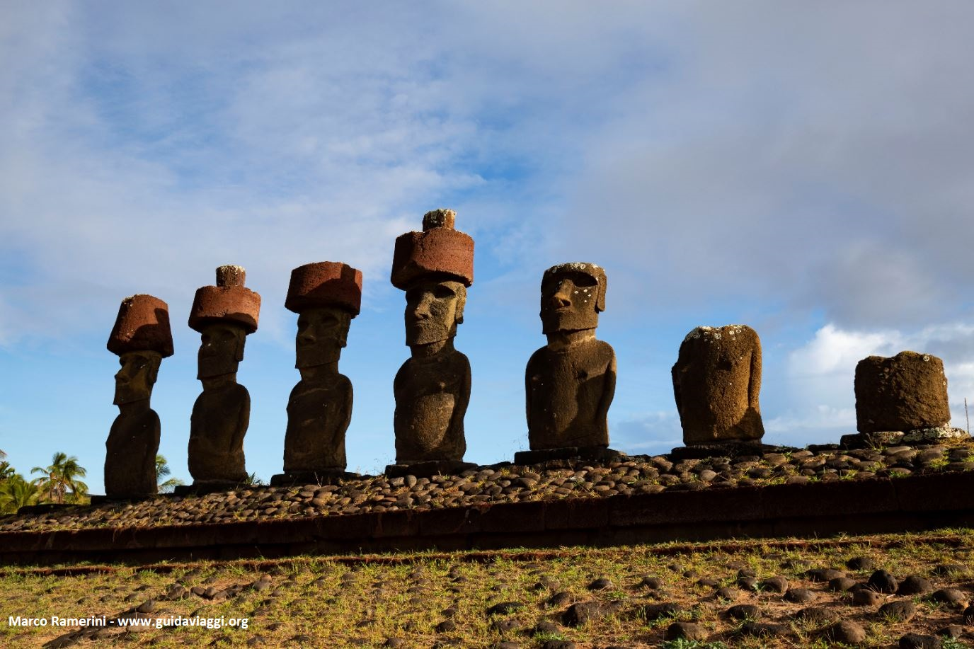 Ahu Nau Nau, Anakena, Easter Island, Chile. Author and Copyright Marco Ramerini