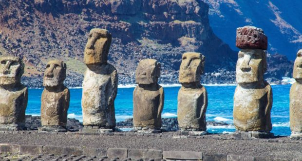 Ahu Tongariki, Easter Island, Chile. Author and Copyright Marco Ramerini
