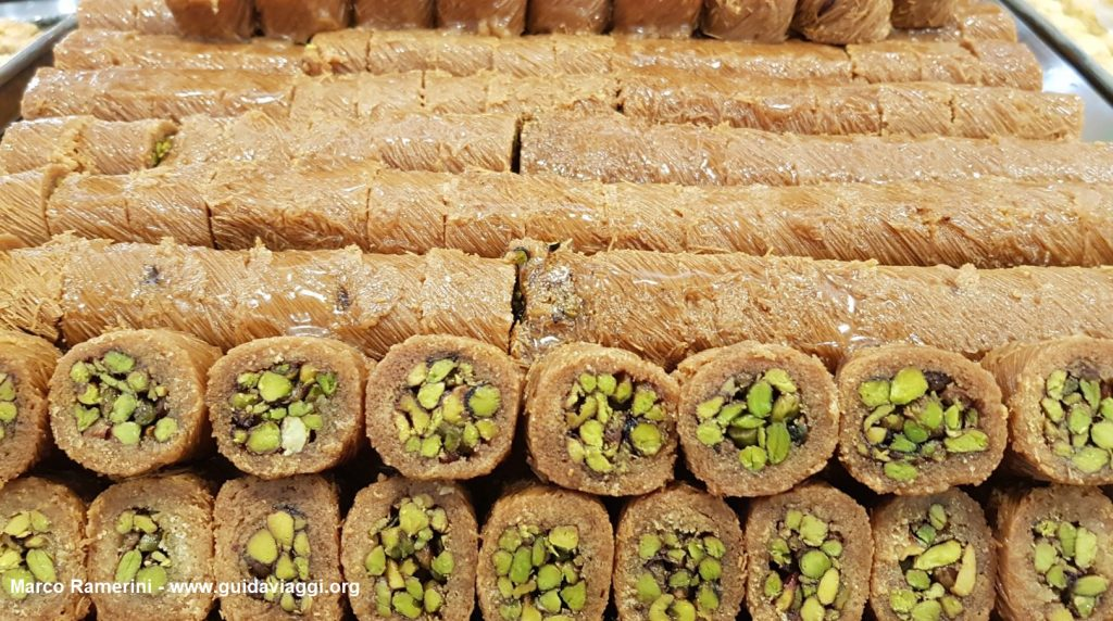Typical Lebanese desserts. Author and Copyright Marco Ramerini