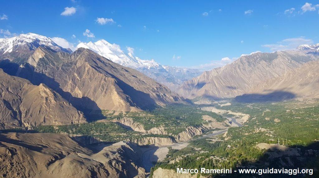 Blick auf das Hunza-Tal vom Eagle's Nest, Pakistan. Autor und Copyright Marco Ramerini