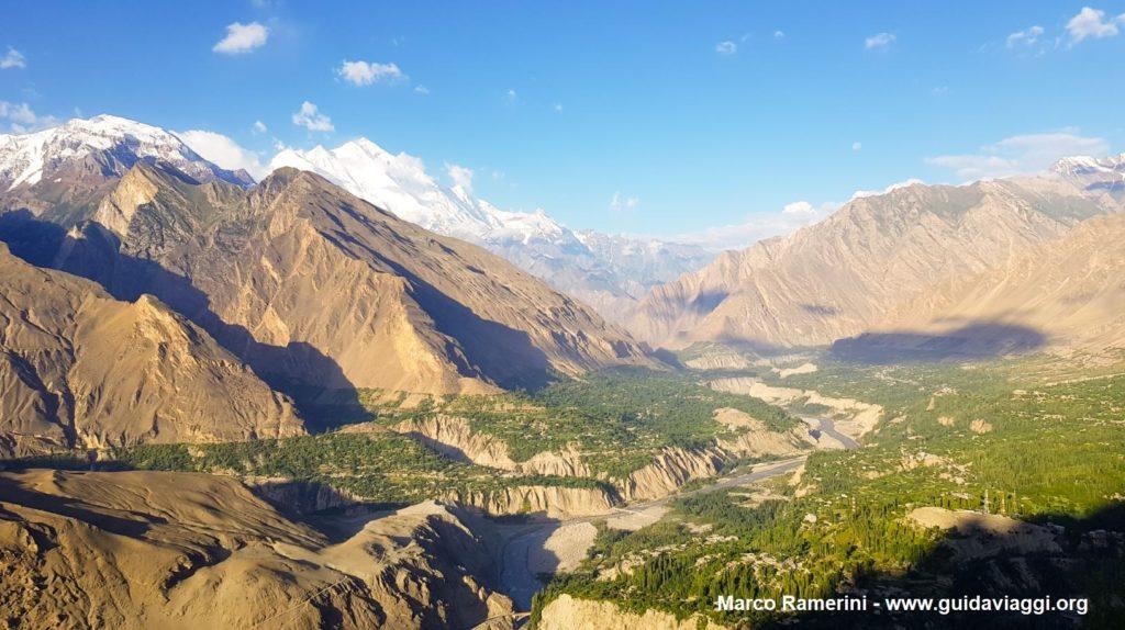 The Hunza valley with the Rakaposhi. Pakistan. Author and Copyright Marco Ramerini