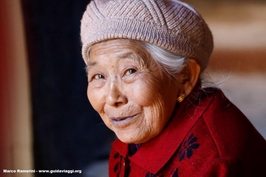 Woman, Shaxi, Yunnan, China. Author and Copyright Marco Ramerini.