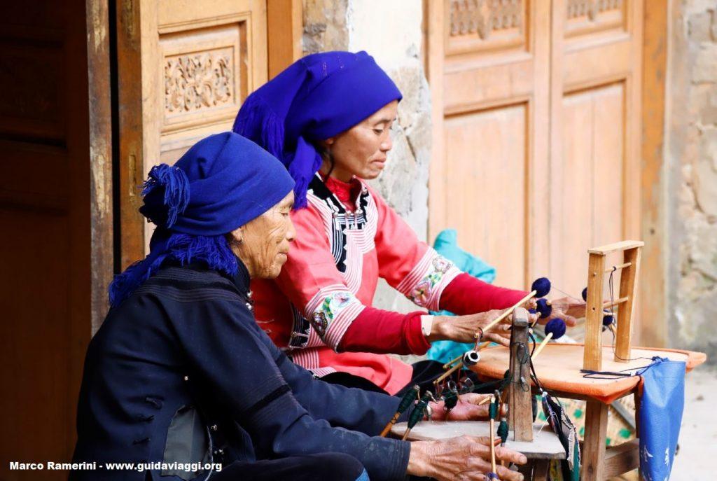 Women, Qingkou, Yuanyang, Yunnan, China. Author and Copyright Marco Ramerini ...
