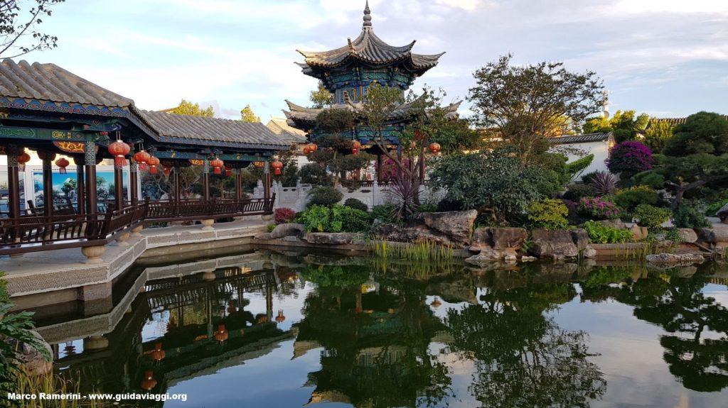 Garden of the Zhu family home, Jianshui, Yunnan, China. Author and Copyright Marco Ramerini.