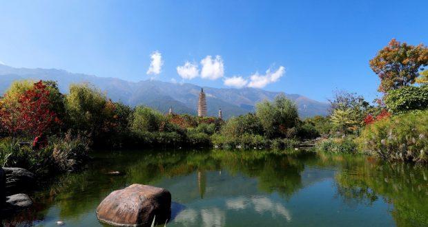 Three Pagodas of Chongsheng Temple, Dali, Yunnan, China. Author and Copyright Marco Ramerini