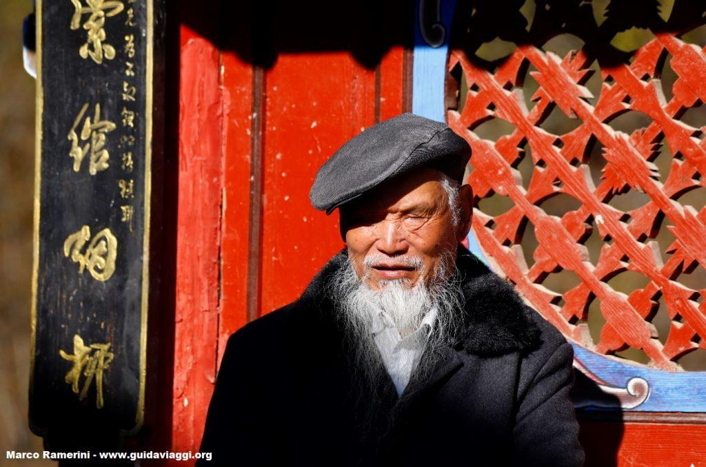 An old man, Shigu, Yunnan, China. Author and Copyright Marco Ramerini.