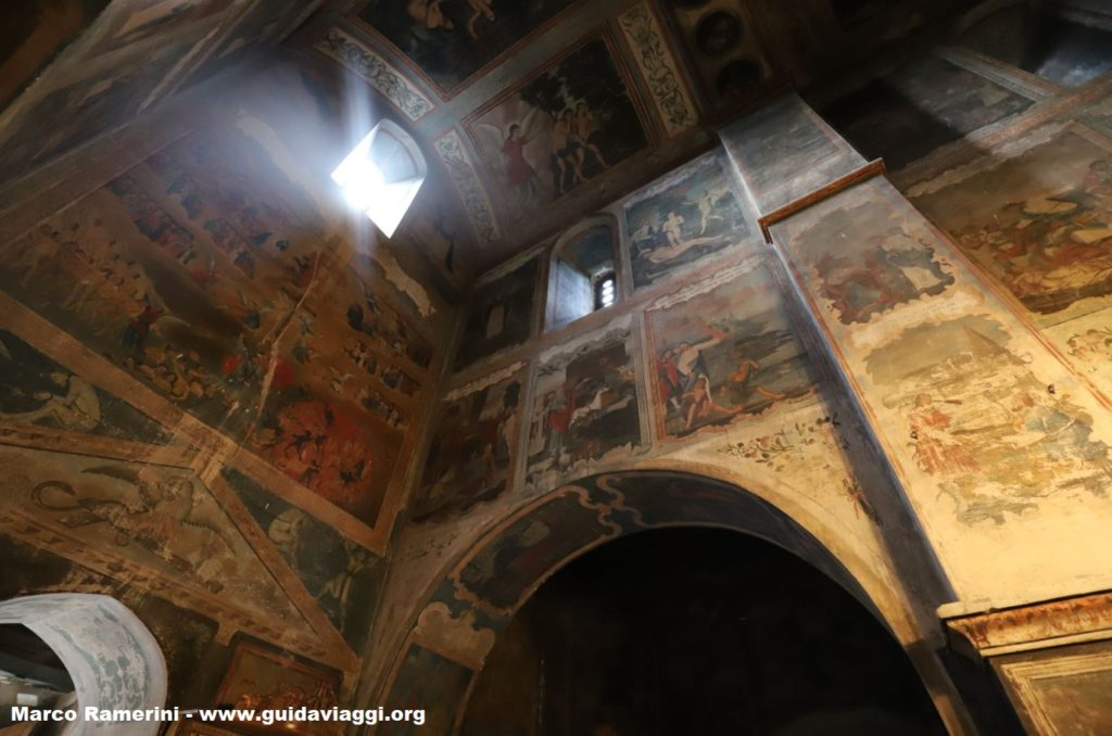 Frescoes, Bodbe Convent, Sighnaghi, Georgia. Author and Copyright Marco Ramerini
