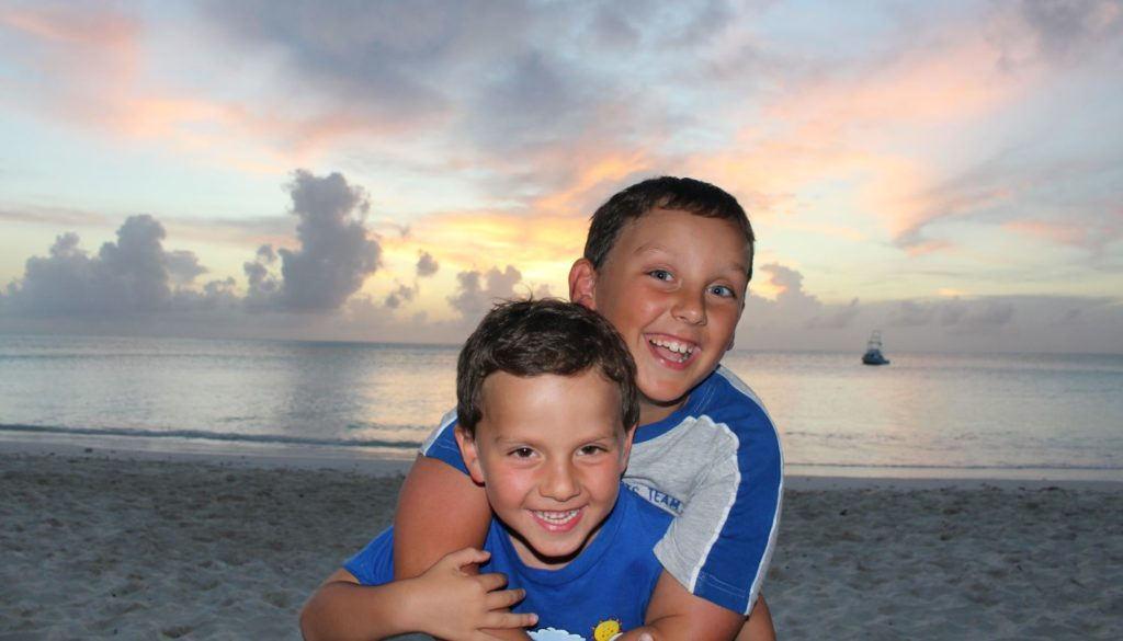 In the Caribbean with children. The Bahamas islands. Author and Copyright Marco Ramerini
