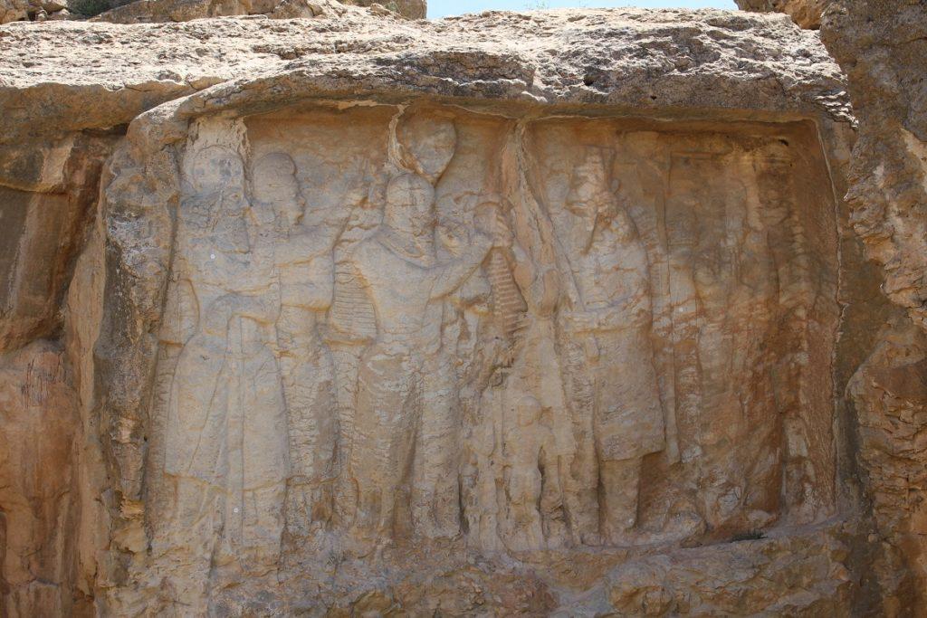 Bas-relief of the investiture of Ardashir I, Naqsh-e Rajab, Iran. Author and Copyright Marco Ramerini