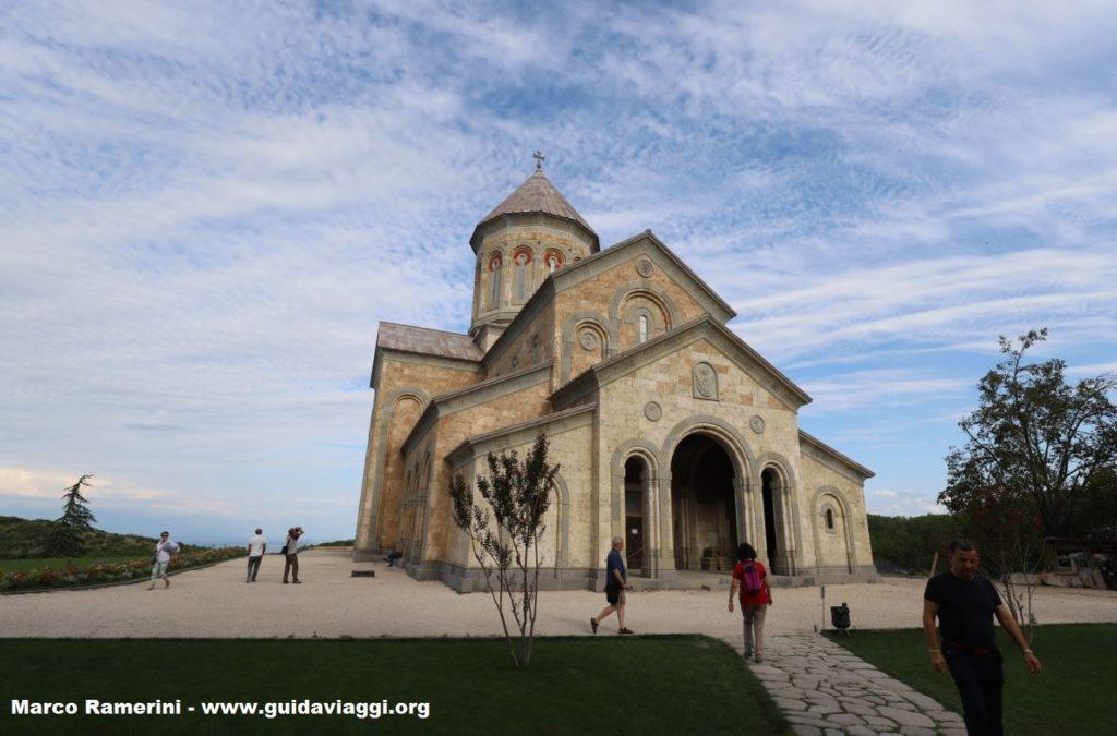 Modern church, Bodbe Convent, Sighnaghi, Georgia. Author and Copyright Marco Ramerini