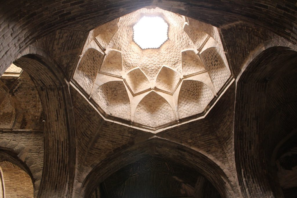 Dome, Friday Mosque (Jāmeh Mosque), Isfahan, Iran. Author and Copyright Marco Ramerini