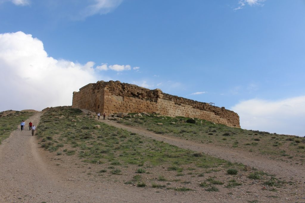 Fortress of Tall-e Takht, Pasargade, Iran. Author and Copyright Marco Ramerini