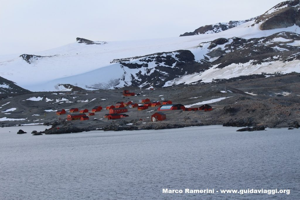 The Argentine base of Hope Bay (Bahía Esperanza), Antarctic Sound, Antarctica. Author and Copyright Marco Ramerini