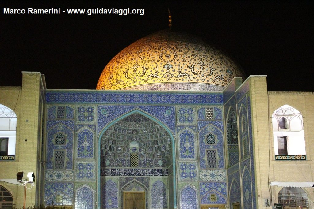Mosque of Sheikh Lotfollah, Esfahan, Iran. Author and Copyright Marco Ramerini