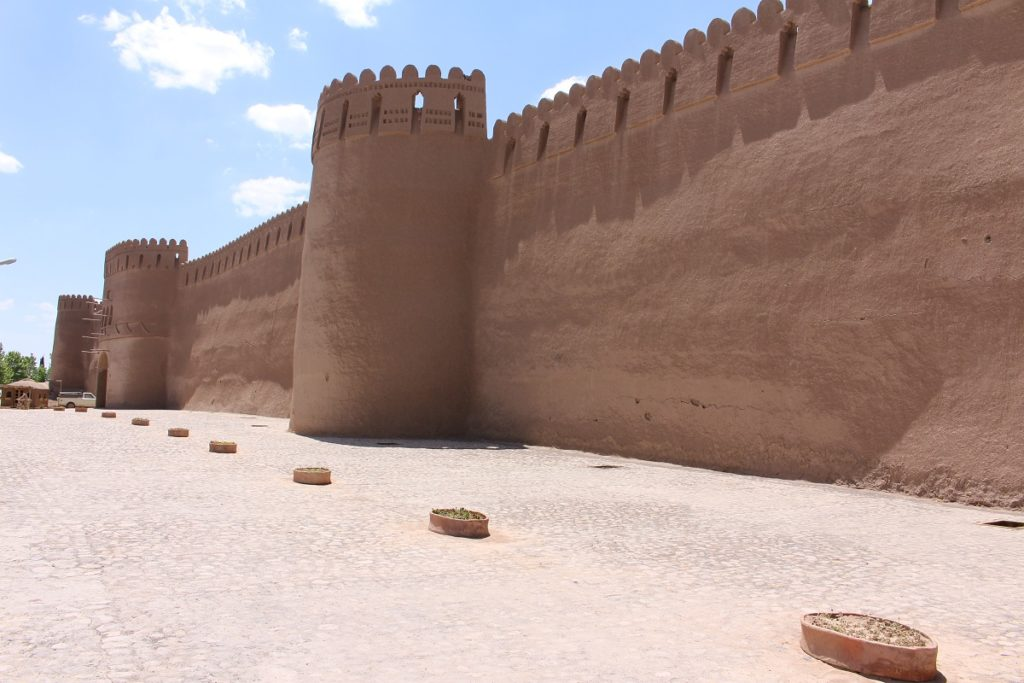 The outer walls of the citadel in Rayen, Iran. Author and Copyright Marco Ramerini