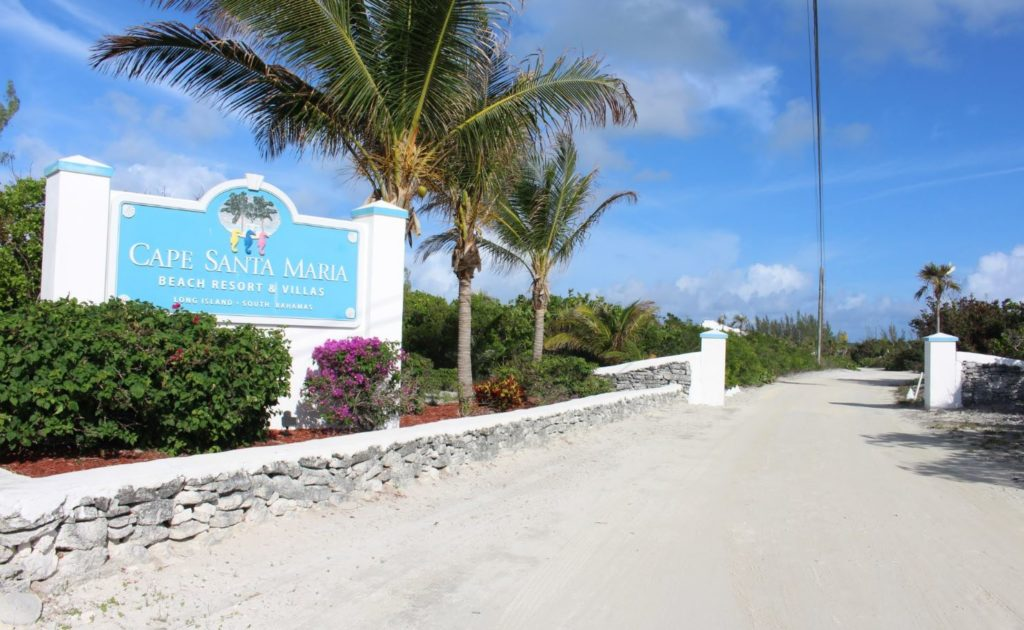 The entrance to the Cape Santa Maria Beach Resort, Long Island, Bahamas. Author and Copyright Marco Ramerini