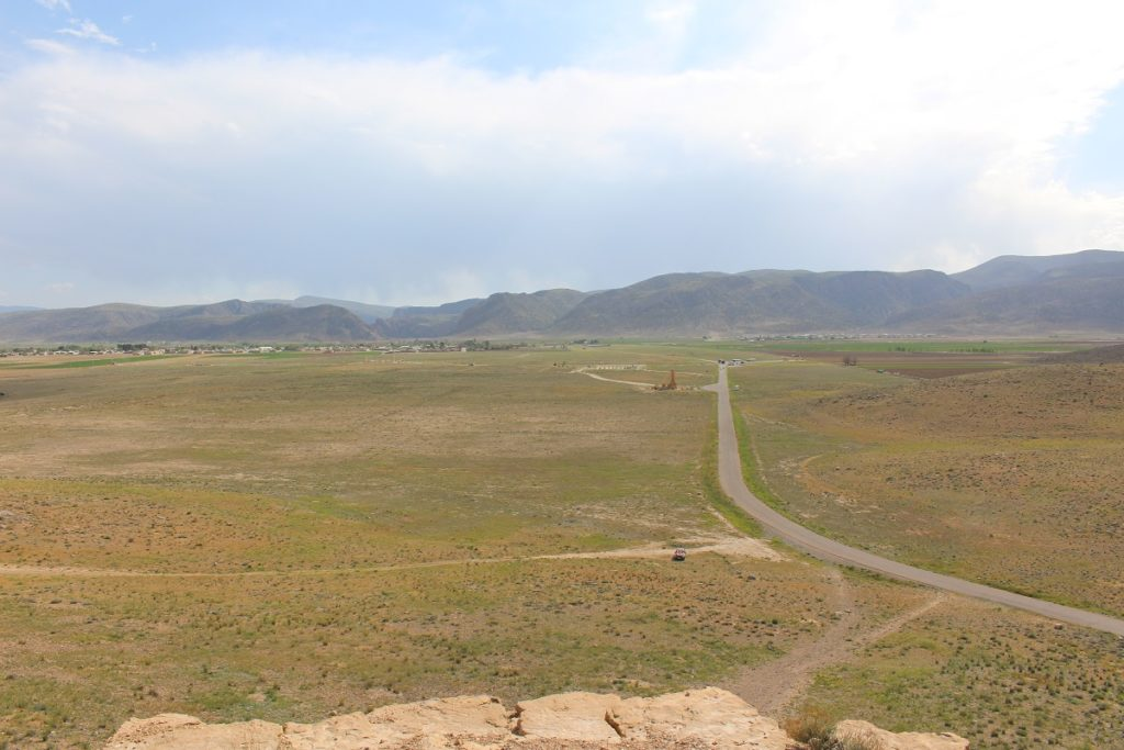 Pasargadae seen from the fortress of Tall-e Takht, Iran. Author and Copyright Marco Ramerini