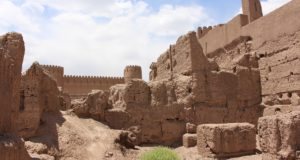 Remains of buildings, Rayen, Iran. Author and Copyright Marco Ramerini.