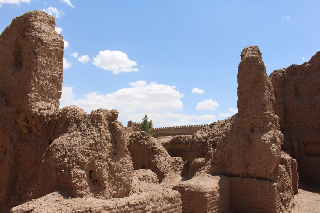 Remains of buildings, Iran. Author and Copyright Marco Ramerini.