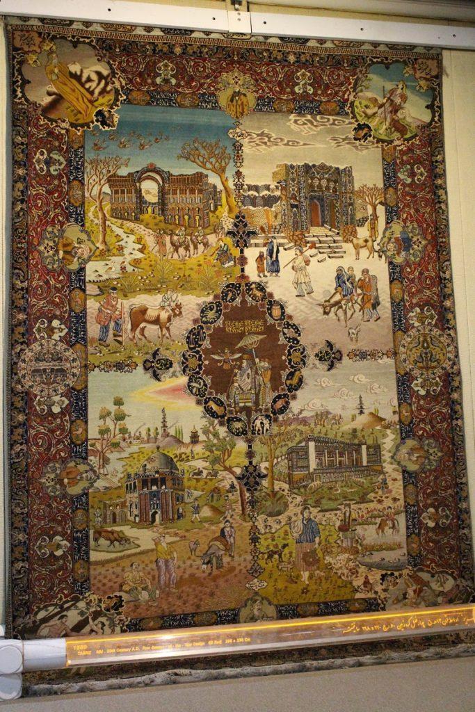 20th century carpet from Tabriz, Carpet Museum of Iran, Tehran, Iran. Author and Copyright Marco Ramerini