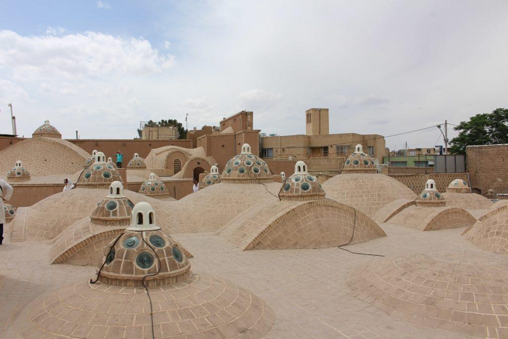 Roof of Sultan Amir Ahmad Bathhouse, Kashan, Iran. Author and Copyright Marco Ramerini