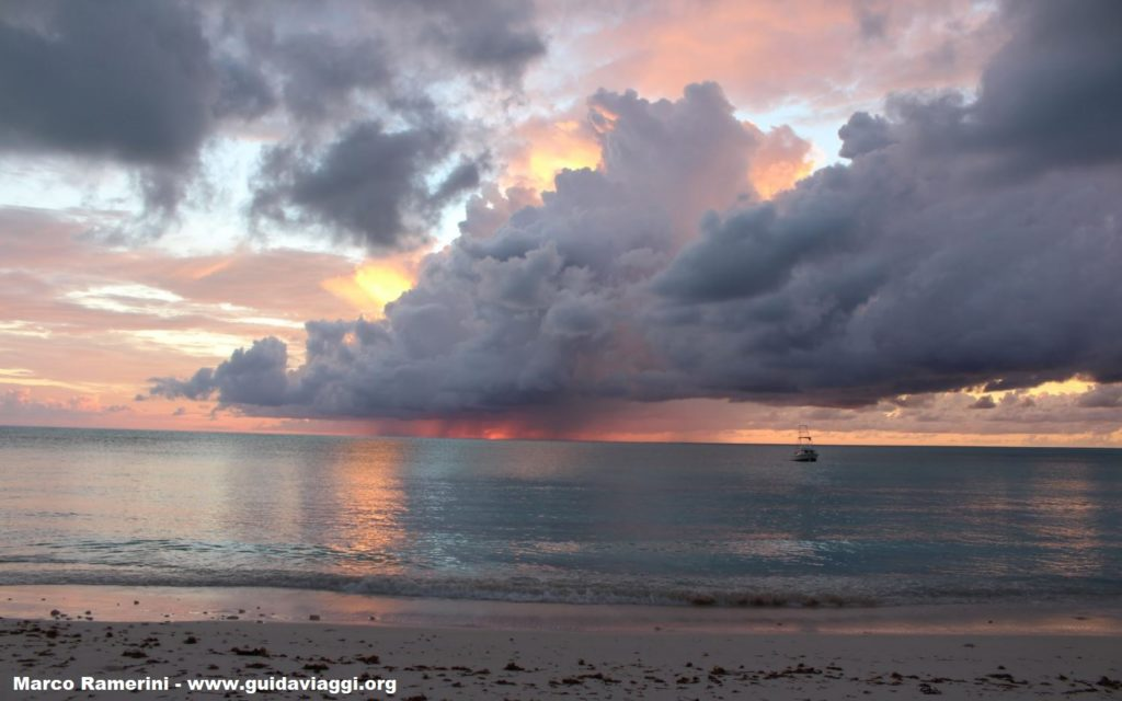 Spectacular sunset, Cape Santa Maria Beach Resort, Long Island, Bahamas. Author and Copyright Marco Ramerini