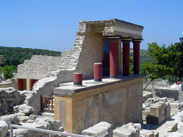 Knossos, Crete, Greece. Author and Copyright Luca di Lalla