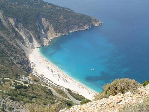 Myrtos, Kefalonia, Ionian, Greece. Author and Copyright Niccolò di Lalla