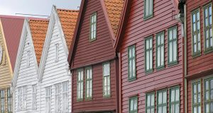Bryggen, Bergen, Norway. Author and Copyright Marco Ramerini ..
