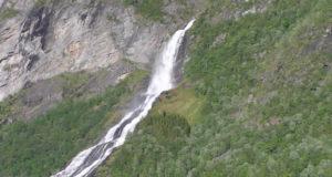 Friaren waterfall (Friarfossen), Geirangerfjord, Norway. Author and Copyright Marco Ramerini