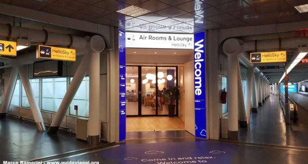 Entrance to the Hotel HelloSky Rome Airport. Author and Copyright Marco Ramerini